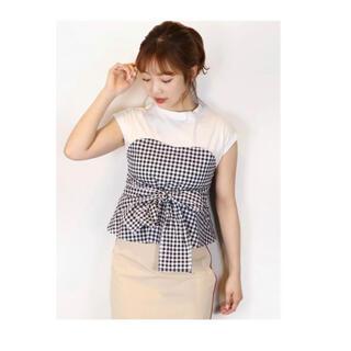 ダズリン(dazzlin)のダズリン ギンガムリボンドッキングT(Tシャツ(半袖/袖なし))