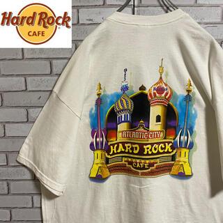90s 古着 ハードロックカフェ 2XL メキシコ製 デッドストック ゆるだぼ(Tシャツ/カットソー(半袖/袖なし))
