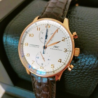 インターナショナルウォッチカンパニー(IWC)の極上美品 IWC ポルトギーゼ 18K PG製 IW371402(腕時計(アナログ))
