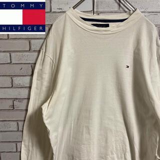 トミーヒルフィガー(TOMMY HILFIGER)の90s 古着 トミーヒルフィガー 刺繍ロゴ ロンT ビッグシルエット ゆるだぼ(Tシャツ/カットソー(七分/長袖))