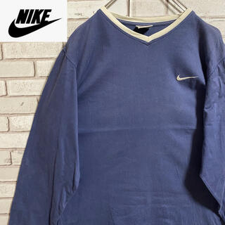ナイキ(NIKE)の90s 古着 NIKE 刺繍ロゴ ロンT ビッグシルエット ゆるだぼ(Tシャツ/カットソー(七分/長袖))