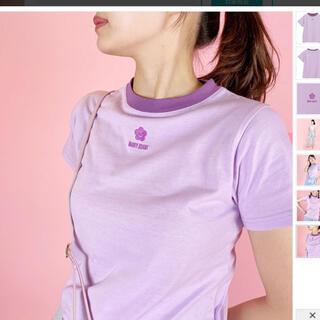 マリークワント(MARY QUANT)のデイジーアイコン バイカラーミニTシャツ(Tシャツ(半袖/袖なし))