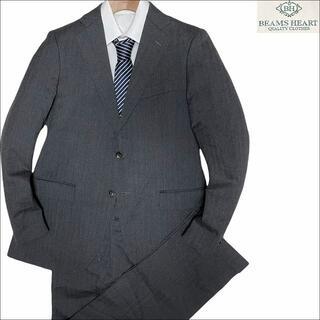 ビームス(BEAMS)のJ4049 美品 ビームス ヘリンボーン 総裏スーツ グレー 48 BEAMS(セットアップ)