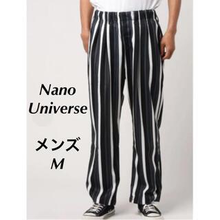 ナノユニバース(nano・universe)の【定価6050円】nano・universe ランダムストライプパンツ M(チノパン)
