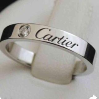 カルティエ(Cartier)の半額 カルティエ ダイヤ入 マリッジリング 結婚指輪 8号 定価210000円(リング(指輪))