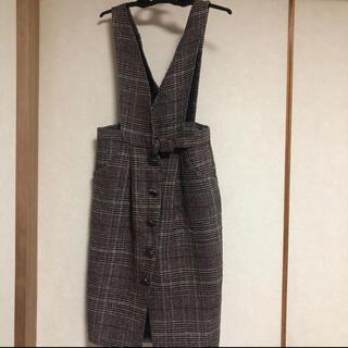 ワンピース ジャンパースカート(ひざ丈ワンピース)
