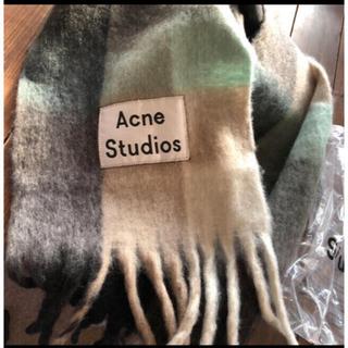 ACNE - 新品未使用❤️acne studiosアクネマフラーショールブルー