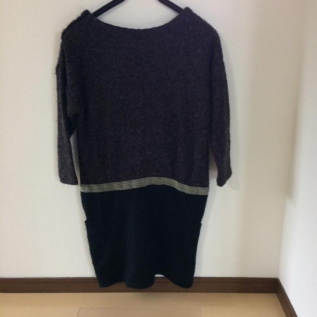 GU(ジーユー)のGU 七分袖ワンピース レディースのワンピース(ミニワンピース)の商品写真