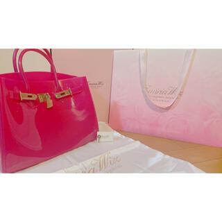 エミリアウィズ(EmiriaWiz)のエミリアウィズ キャンディバッグ チェリーピンク 箱、ショッパー、保存袋付き(ハンドバッグ)