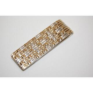 ティファニー(Tiffany & Co.)のティファニー 格子柄 マネークリップ スターリングシルバーx18K(マネークリップ)
