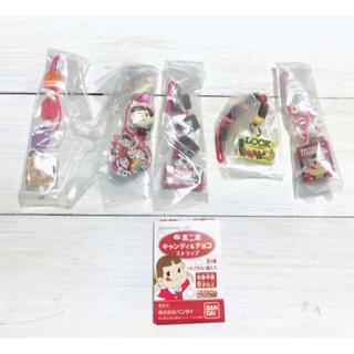 バンダイ(BANDAI)の不二家 キャンディ&チョコ ストラップ 全5種 ミニチュア 食品サンプル 新品(ストラップ/イヤホンジャック)