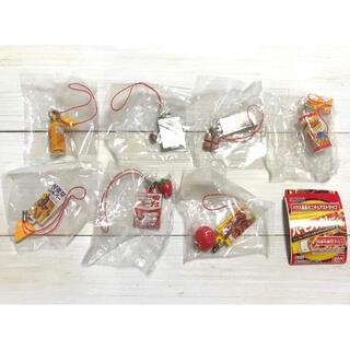 バンダイ(BANDAI)のハウス食品 ミニチュア ストラップ 全7種 食品サンプル バンダイ 廃盤品(ストラップ/イヤホンジャック)