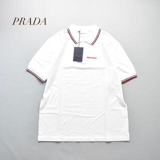 PRADA - 未使用品 鹿の子 PRADA プラダ ポロシャツ ホワイト 白 SJJ887