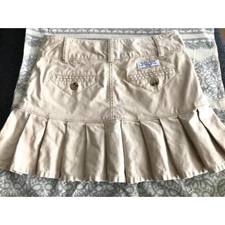 ポロラルフローレン(POLO RALPH LAUREN)のポロ ラルフローレン プリーツ ミニ スカート ベージュ 130 サイズ 7(スカート)