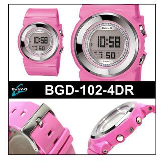 ベビージー(Baby-G)の【新品未使用】CASIO カシオ Baby-G ベビーG BGD-102-4DR(腕時計)