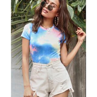 アナップ(ANAP)のAnap USA(アナップユーエスエー) タイダイジャストTシャツ(Tシャツ(半袖/袖なし))