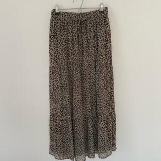 ディスコート(Discoat)のDiscoat レオパード柄 スカート(ロングスカート)