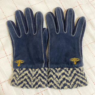 ヴィヴィアンウエストウッド(Vivienne Westwood)の手袋 ネイビー ビビアンウエストウッド(手袋)