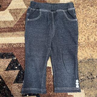 サンカンシオン(3can4on)のサンカンシオン デニム調 ストレッチパンツ 100(パンツ/スパッツ)