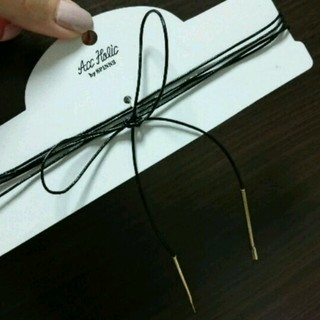 スピンズ(SPINNS)のリボンチョーカー ネックレス♡(ネックレス)