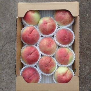 桃 果物 山梨県 1ケースのみ(フルーツ)