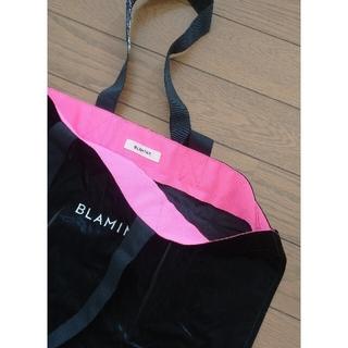 ドゥロワー(Drawer)のblaminkノベルティバック未使用品蛍光ピンク(エコバッグ)
