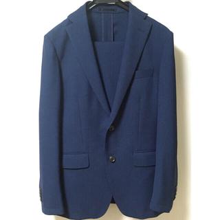 アオヤマ(青山)の青山  air  メンズスーツ  スリム A5  ネイビー 春夏  丸洗いOK(セットアップ)