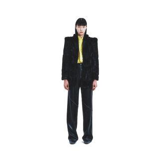 ジョンローレンスサリバン(JOHN LAWRENCE SULLIVAN)の【JOHN】Faux Leather Paneled Pants(スラックス)