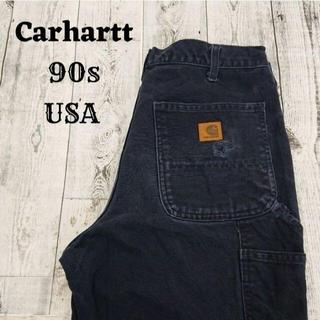 カーハート(carhartt)の90s カーハート ペインターパンツ ネイビー(青) アメリカ コットン(ワークパンツ/カーゴパンツ)