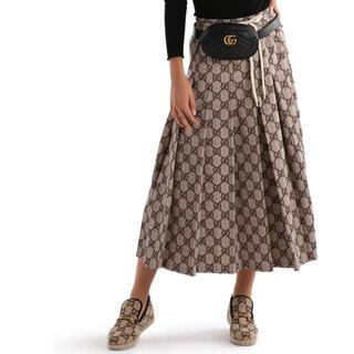 グッチ(Gucci)のGUCCI GGテクニカル プリーツスカート XS グッチ(ロングスカート)