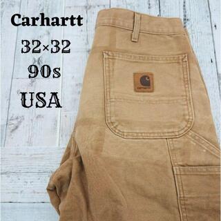 カーハート(carhartt)の90s カーハート ワークパンツ ブラウン(茶)32×32 アメリカ コットン(ワークパンツ/カーゴパンツ)