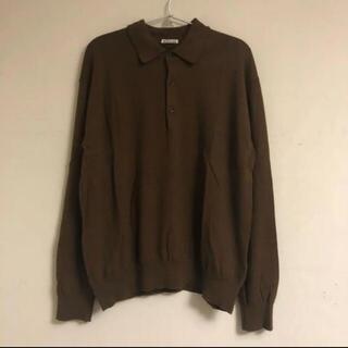 サンシー(SUNSEA)のAURALEE CASHMERE HIGH GAUGE KNIT POLO(ポロシャツ)