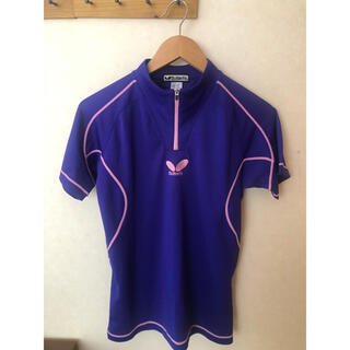 バタフライ(BUTTERFLY)のバタフライ Tシャツ ハーフジップ 卓球 160(卓球)