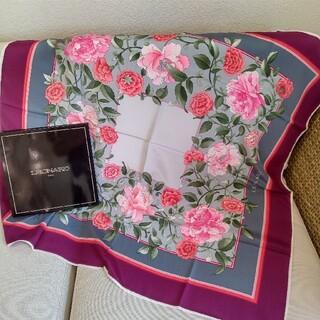 レオナール(LEONARD)の【4347R】LEONARD レオナール 花柄スカーフ(バンダナ/スカーフ)