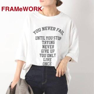 フレームワーク(FRAMeWORK)のFRAMeWORK フレームワーク フロントロゴハーフスリーブT(Tシャツ(半袖/袖なし))