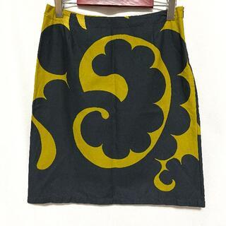 マリメッコ(marimekko)のマリメッコ Marimekko スカート ひざ丈 36 正規品 ルック レア柄 (ひざ丈スカート)