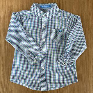 familiar - 美品☆ファミリア☆familiar チェックシャツ☆長袖 100
