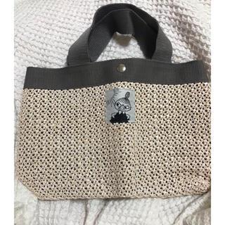 タカラジマシャ(宝島社)のMOOMIN[ムーミン] リトルミイの 白いかごバッグ(かごバッグ/ストローバッグ)