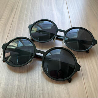 ウィゴー(WEGO)のWEGO サングラス 丸 丸メガネ 丸サングラス 黒 ペア セット(サングラス/メガネ)