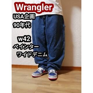 ラングラー(Wrangler)の90sWrangler ラングラー ペインタージーンズ ペインター バギーデニム(ペインターパンツ)