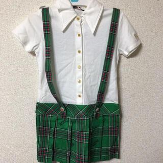 ロニィ(RONI)の新品 RONI S 半袖 ワンピース チェック スカート  フォーマル(ワンピース)