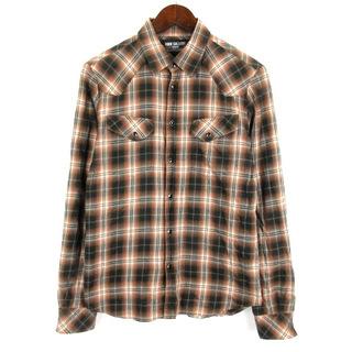 ルードギャラリー(RUDE GALLERY)のルードギャラリー RUDE GALLERY チェック シャツ 長袖 2 ブラウン(シャツ)