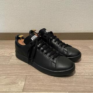 ラフシモンズ(RAF SIMONS)のraf simons adidas stan smith 26cm 黒(スニーカー)