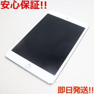 アップル(Apple)の美品 SIMフリー iPad mini 4  128GB シルバー (タブレット)