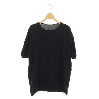 クルチアーニ(Cruciani)のクルチアーニ cruciani ニット セーター コットン 半袖 52 黒(ニット/セーター)