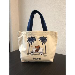 ピーナッツ(PEANUTS)のハワイ限定 日焼けスヌーピー トートバッグ ランチバッグ(トートバッグ)