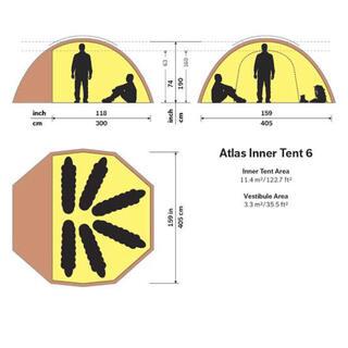ヒルバーグ(HILLEBERG)のHilleberg Atlas ヒルバーグ アトラス インナーテント 6(テント/タープ)