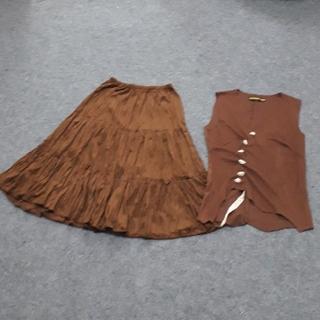ミージェーン(me Jane)のme jane フレアースカート&変形ベスト(ひざ丈スカート)