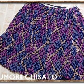 ツモリチサト(TSUMORI CHISATO)のツモリチサト ペチコート付きシルクシフォンスカート(ミニスカート)
