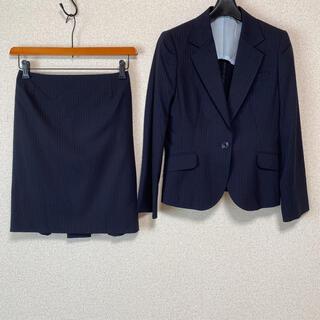アオキ(AOKI)のレミュー スカートスーツ S W66 濃紺 OL 春夏 ビジネス DMW(スーツ)